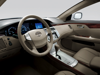 Avalon XLS interior shown in Ivory with available JBL synthesis AM/FM 6 disc in-dash CD changer