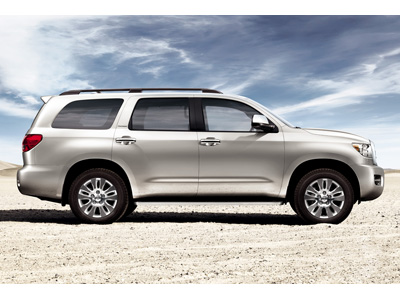 "Sequoia Limited shown in Silver Sky Metallic with available 20"" alloy wheels"
