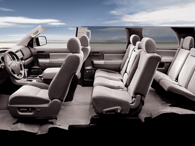 Sequoia Interior seating show in Graphite